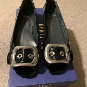 Stuart Weitzman Black Patent Leather Flat